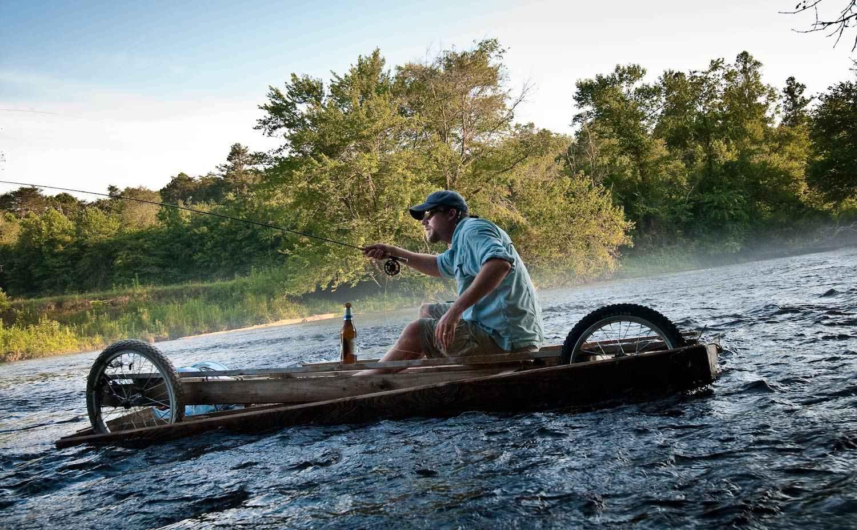 Redneck Driftboating Fly Fishing