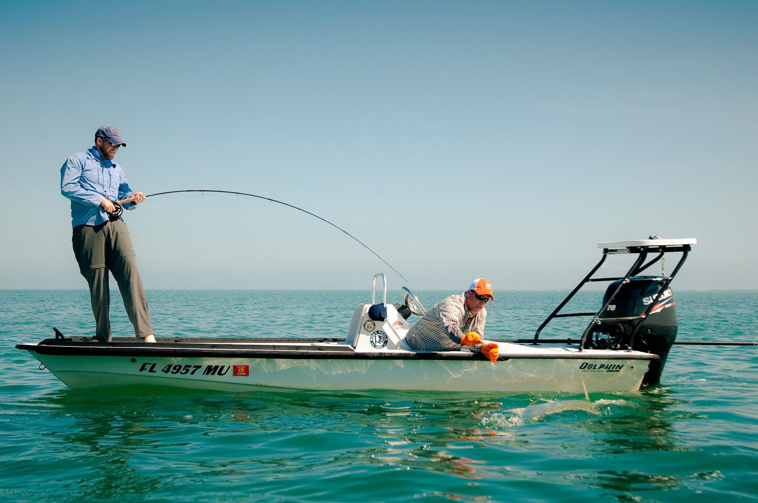 The fight isn 39 t over when you get a tarpon boat side fly for Tarpon fly fishing