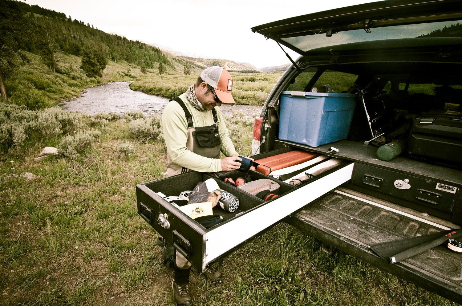 a truck vault can make your truck the bat-mobile of fly fishing, Fly Fishing Bait