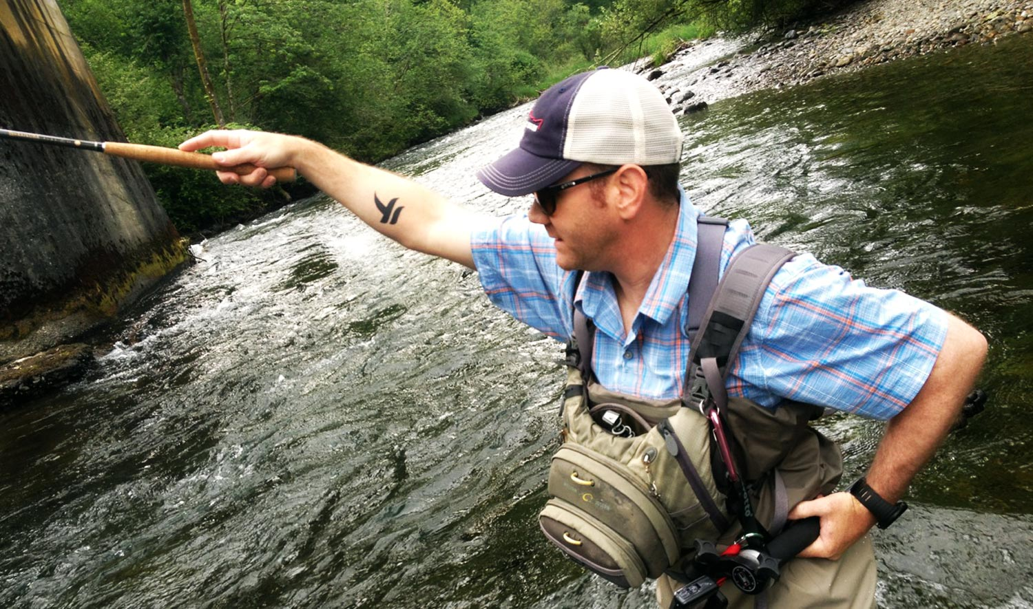 Chris Fahrenbruch on the South Fork Snoqualmie River Photo by Lex Story