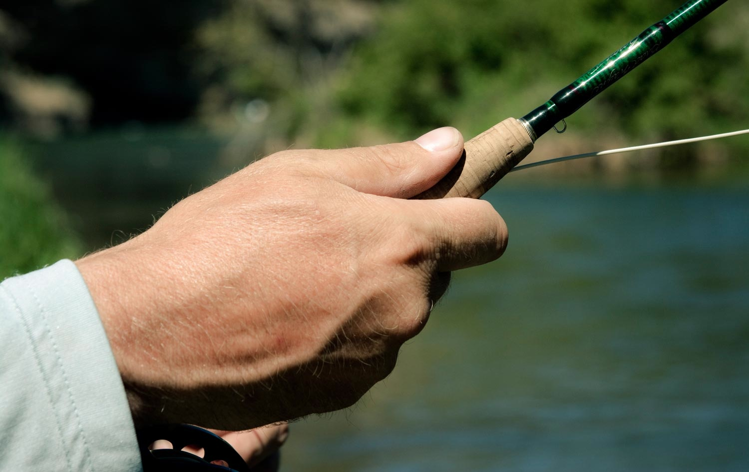 Fly rod grip keep it consistent fly fishing gink and for Fishing rod grips