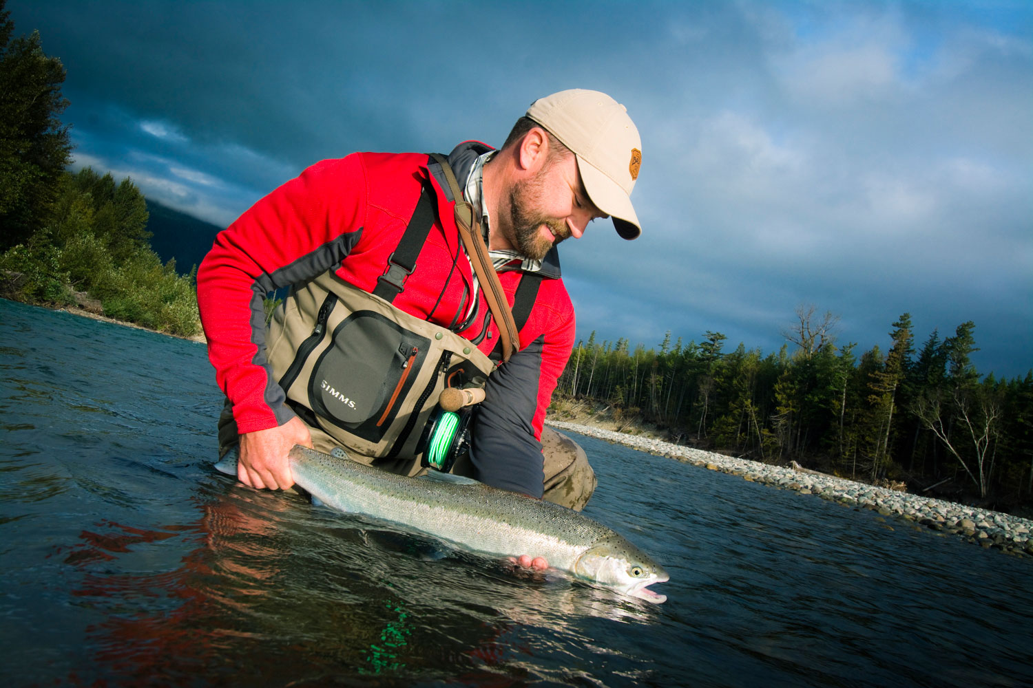 Andrew Bennett with a BC Steelhead  Photo by Louis Cahill