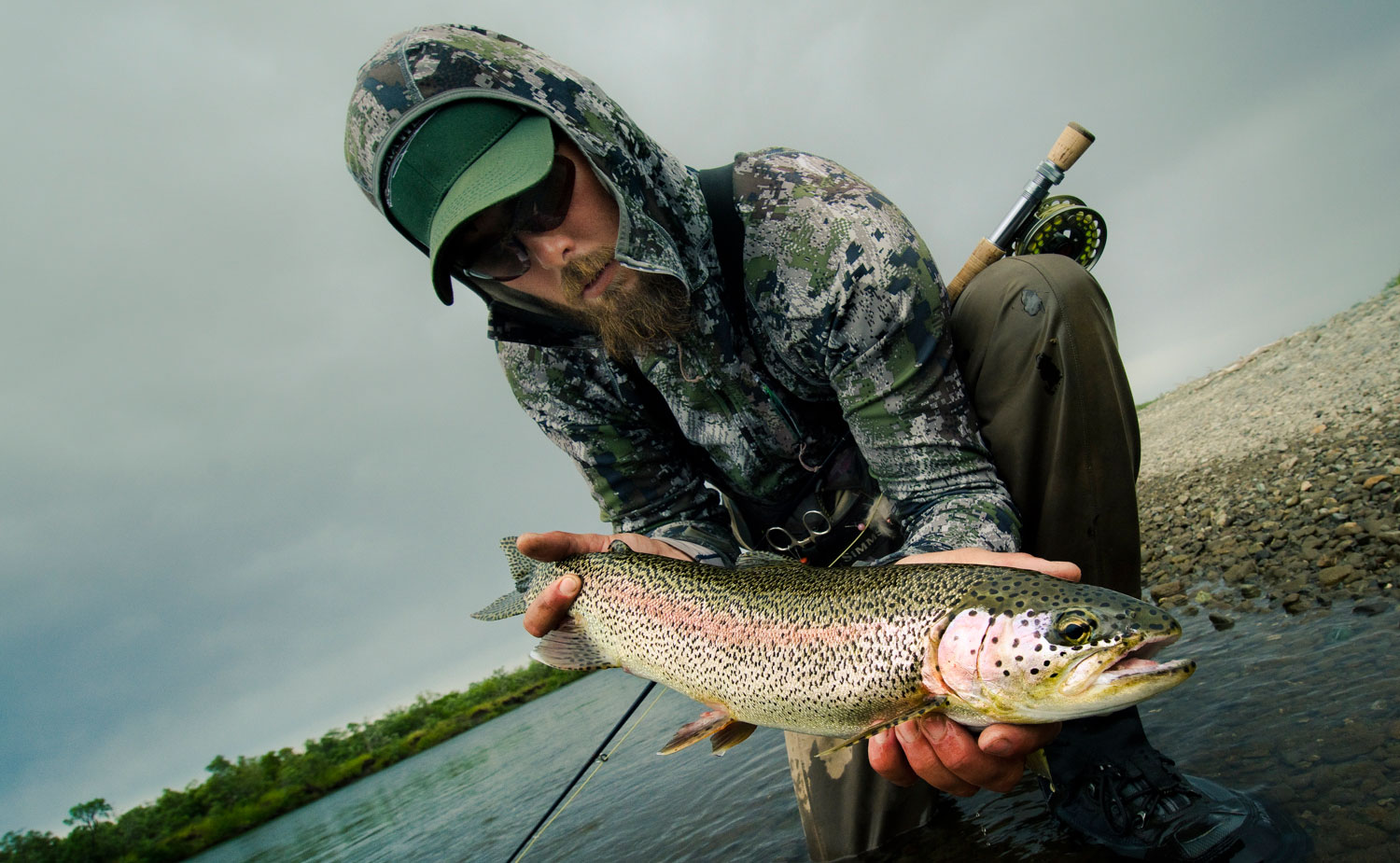 Ben West with a nice rainbow  Photo by Louis Cahill