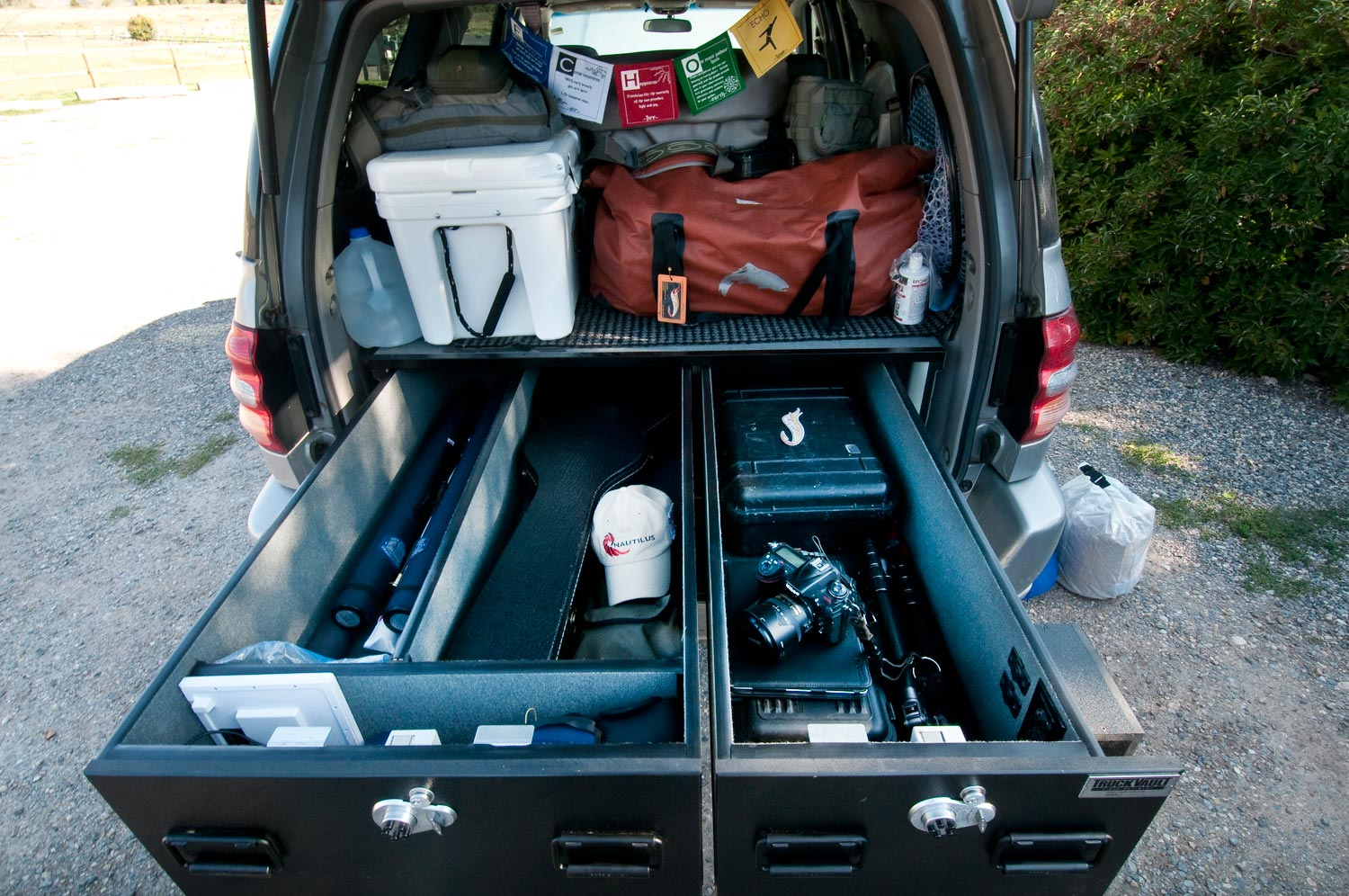 A truckvault offers the ultimate in function convenience for Truck fishing accessories