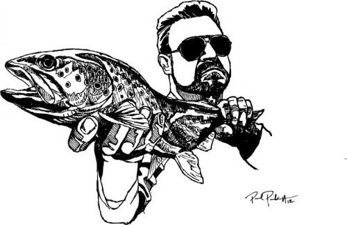 Line Art Of Fish : 7 extraordinary fly fishing artists gink and