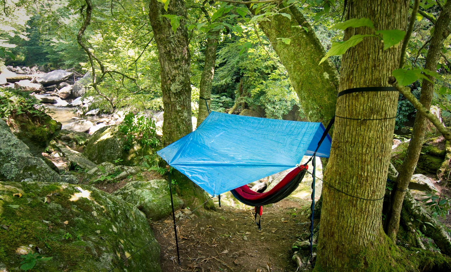 Hammock camping for backcountry adventures fly fishing for Campsites with fishing