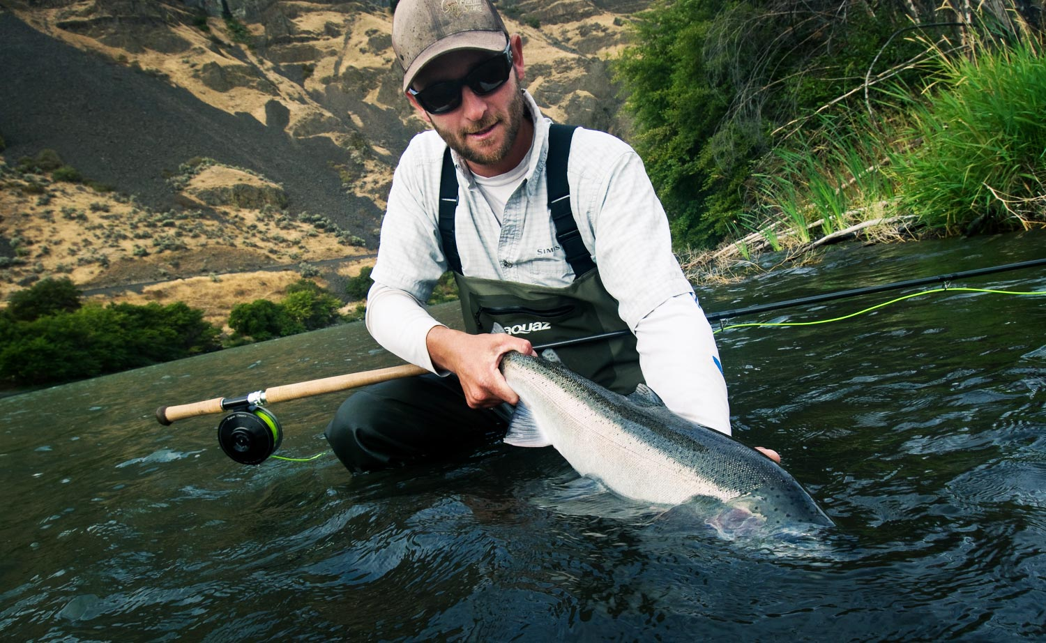 8ec832dfe728 Brian O'Keefe has something on his mind and it isn't how many steelhead he  can catch.