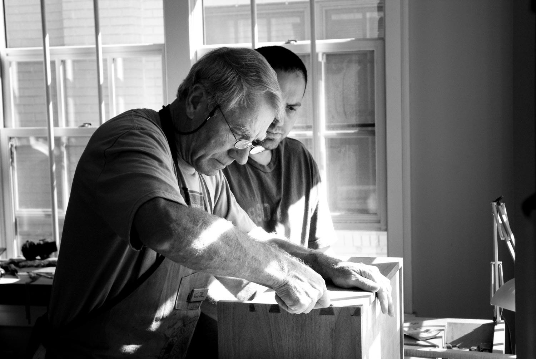 Frank Klausz Teaches the dovetail joint. Photo Louis Cahill